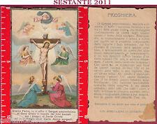 1187 SANTINO HOLY CARD GESù CROCIFISSO PREZIOSISSIMO SANGUE ANTICO