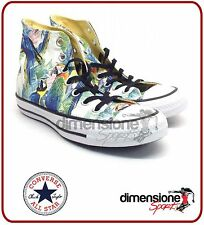 SCARPE CONVERSE ALL STAR tela ALTE TG 37 US 4,5 PRINT AMAZON 152707C FANTASIA