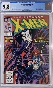 Uncanny X-Men #239 CGC 9.8 WP  1st Mr. Sinister Cover  221  MODOK Series