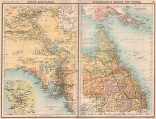 SOUTH AUSTRALIA & QUEENSLAND. British New Guinea; Adelaide. BARTHOLOMEW 1898 map