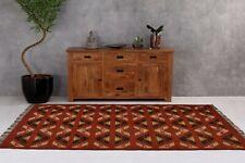 Designer handmade 5'x7' feet area rug wool jute dhurrie indian home decor carpet