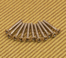001-6188-049 (12) Genuine Fender Phillips Nickel Strap Buttons or Bridge Screws