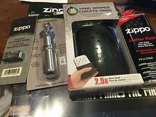 Zippo PACKAGE 4 BLACK Hand Warmer/4 Fuel Canister/4 Burner/ 4- 4 ounce fuel
