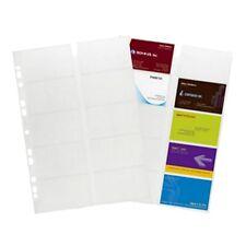 DURABLE Visitenkarten-Hüllen,DIN A4,10 Visitenkarten