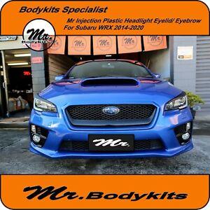 Quality Plastic EyeLid/ Headlight Eye brows For Subaru 2014-2020 WRX/ STi By Mr
