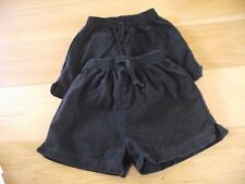 2 pairs of boys black school football sport shorts 6-7  years M&S
