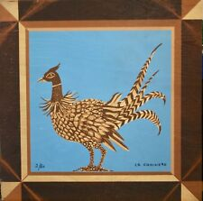 Mady of the Hotel - Rare Print on Wood - Lithography - Pheasant