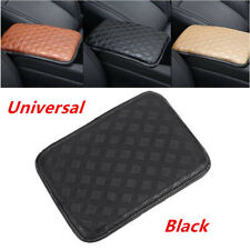 1PC Universal Car SUV Armrest Pad Cover Center Console PU Leather Cushion Black