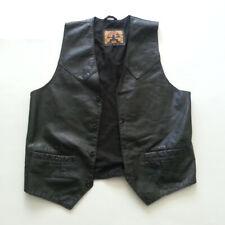 Phase 2 Men Leather Black Vest Size M