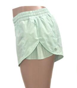 💙 Lululemon Athletica Running Shorts Women's Size 10 Light Green 💙