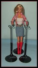 "Set of 2 BLACK Kaiser Doll Stands For 11"" to 13"" Fashion Royalty Misaki & BARBIE"