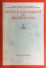 (Emilia Romagna) STUDI E DOCUMENTI DI ARCHEOLOGIA - II 1986 - Nuova Alfa