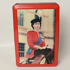 Elizabeth II Coronation 1953 Commemorative Tin on Horseback in Uniform