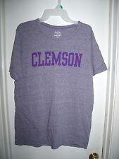 Alta Gracia Gray Purple Clemson Tigers Crewneck T-Shirt Size L