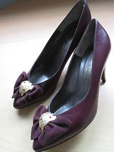 NEU BRUNO MAGLI Damen Schuhe Pumps Gr.38 violett aubergine /A