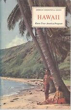 Hawaii Booklet American Geographical Society Know Your America 1971 Coral Lava