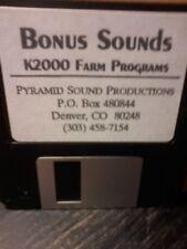 KURZWEIL ~ K2000 Bonus Sounds + Factory Farm Floppy Disk Programs!