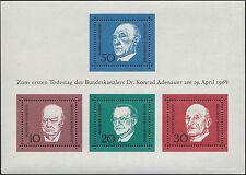 RFA 1968 ALLEMAGNE BLOC N°3**  Bf Adenauer, sheet MNH GERMANY Deutschland MNH