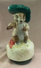 New ListingBeatrix Potter Peter Rabbit Schmid music box figurine 1988 vtg Benjamin Bunny