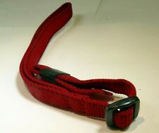 "1.4cm wide Wrist Strap Canvas RED 12"" long"