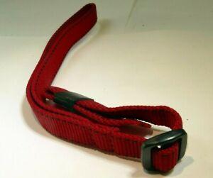 "1.4cm wide Wrist Strap Canvas RED 12"" long"