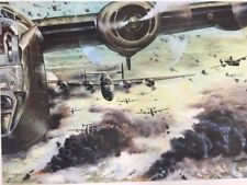 """Vintage RAID ON PLOESTI  1950 ARMED FORCES INFORMATION 24"""" x 21"""" Poster A"""