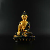 21CM China Tibetan Buddhism Resin Painting Sakyamuni Tathagata Buddha Statue 阿閦佛