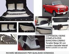 BIANCHINA CABRIO COPRISEDILI SERIE COMPLETA BEIGE 5E e NERO 2.0 cod 333