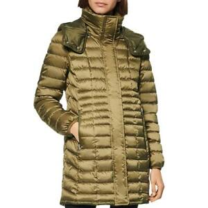 Marc New York by Andrew Marc Womens Green Quilted Puffer Jacket Coat M BHFO 7687