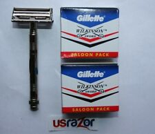 *100 Gillette Double Edge Blades & Classic Butterfly Metal Safety Razor Shaver
