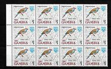 Gambia, 1966 Birds 0.5d Red-cheeked Cordon Bleu, MNH marginal block of 12 (G082)