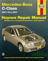 MERCEDES SHOP MANUAL SERVICE REPAIR HAYNES C-CLASS BOOK CHILTON OWNER GUIDE