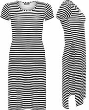 Viscose Short Sleeve Striped Regular Size Dresses for Women