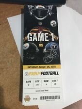 2018 PITTSBURGH STEELERS VS TENNESSEE TITANS NFL FOOTBALL TICKET STUB 8/25