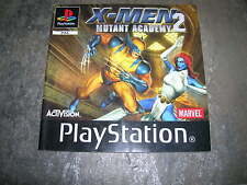 X-MEN 2 MUTANT ACADEMY  – Sony PS1 Instruction Manual