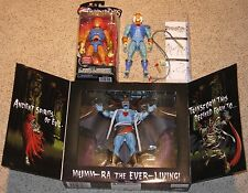 THUNDERCATS action figure lot - MUMM-RA Deluxe Staction Bandai LION-O & TYGRA
