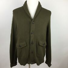 Banana Republic 5 Button Cardigan Pockets Cowl Collar Leather Elbow Patches #mX