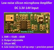 Micro Silicon Microphone Amplifier Board Sound Voice Module 3V 5V 6V 12V Input