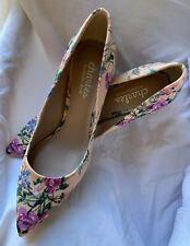 NIB  Anthropologie Charles David Pink/Rose Peach Floral Pump Heel US Size 6.5