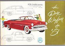 [60707] 1951 DODGE NEW CAR MODELS BROCHURE (ONTARIO, CALIFORNIA DEALER)