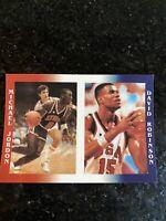 Michael Jordan David Robinson Olympics Promo NBA Dream Team Basketball Card