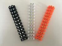 barette de 12 dominos raccordement électrique 2,5/4mm² 960° plusieurs couleurs
