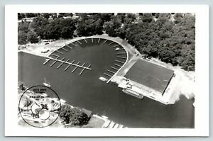 South Haven Michigan~Centennial & Blueberry Festival~Airview Docks~1969 RPPC