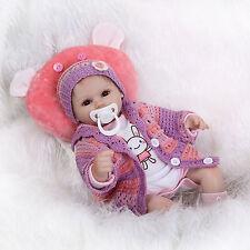 """17"""" 43cm Real Lifelike Soft Vinyl Newborn Doll Silicone Reborn Baby Dolls Xmas"""