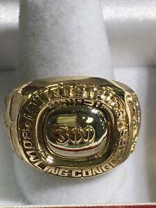 10k Gold '300' Bowler Ring