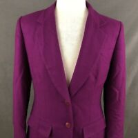 Pendleton Women's 100% Pure Virgin Wool Blazer Size 10 Purple USA Business Suit