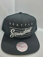 Seattle Sounders Mitchell & Ness Black/Silver Snapback Hat Cap