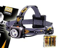 Fenix HP15UE Ultimate Edition 900 Lumens Headlamp w/ 4xAA - Gray [HP25 Upgrade]