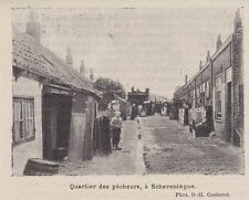 1898  --  PAYS BAS   QUARTIER DES PECHEURS A SCHEVENINGUE  SCHEVENINGEN  3H950