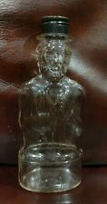 Vintage Abe Lincoln Bottle Bank Lincoln Foods Inc Lawrence Mass. w/cap
